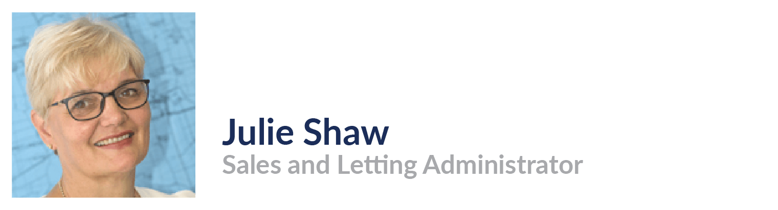 Julie Shaw, Sales and Letting Administrator, John Taylors Estate Agents and Auctioneers